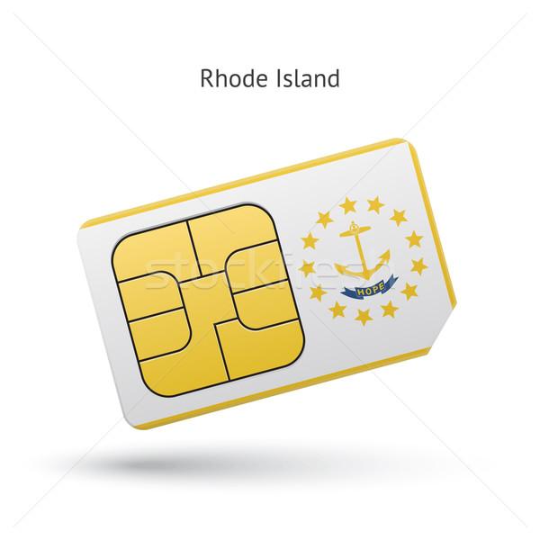 Rhode Island telefone cartão bandeira negócio tecnologia Foto stock © tkacchuk