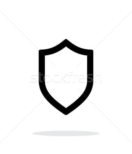 Shield icon on white background. Stock photo © tkacchuk