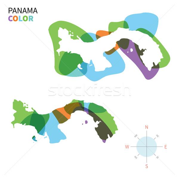 Streszczenie wektora kolor Pokaż Panama przezroczysty Zdjęcia stock © tkacchuk