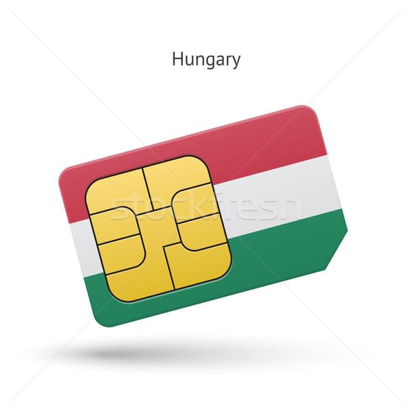 Венгрия мобильного телефона карт флаг бизнеса дизайна Сток-фото © tkacchuk