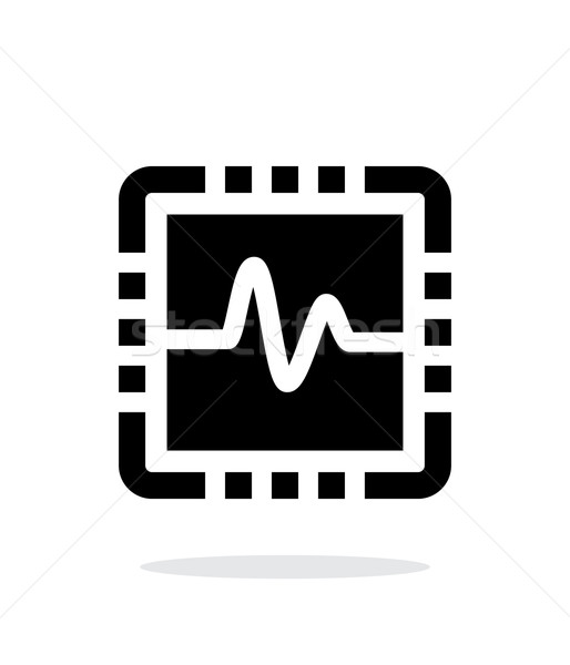 CPU monitoring simple icon on white background. Stock photo © tkacchuk