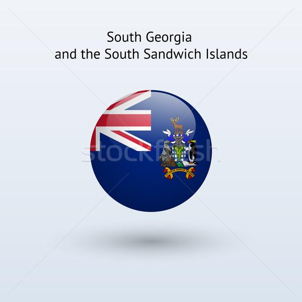 Dél Grúzia szendvics szigetek zászló szürke Stock fotó © tkacchuk