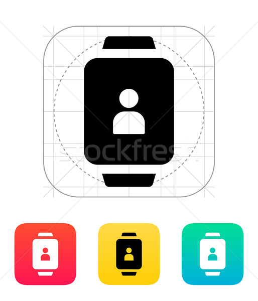 User account on smart watch icon. Stock photo © tkacchuk