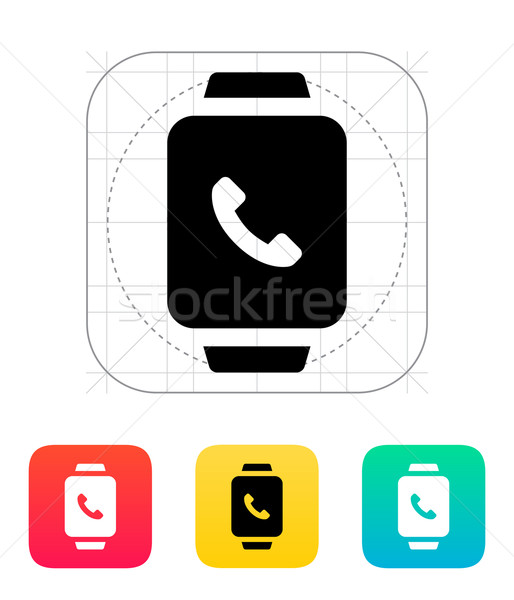 Foto stock: Inteligentes · ver · llamada · icono · teléfono