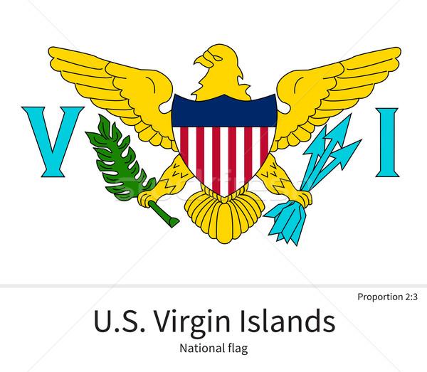 флаг Виргинские о-ва исправить элемент цветами образование Сток-фото © tkacchuk