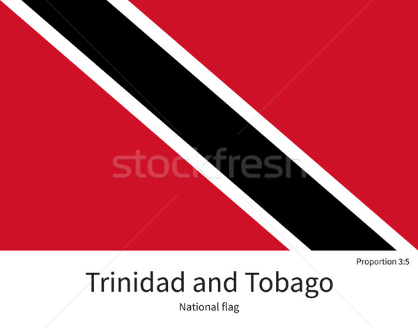 National flag of Trinidad and Tobago with correct proportions, element, colors Stock photo © tkacchuk