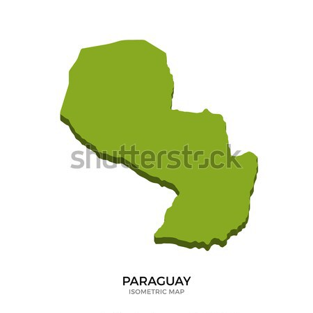 Isometric map of Paraguay detailed vector illustration Stock photo © tkacchuk