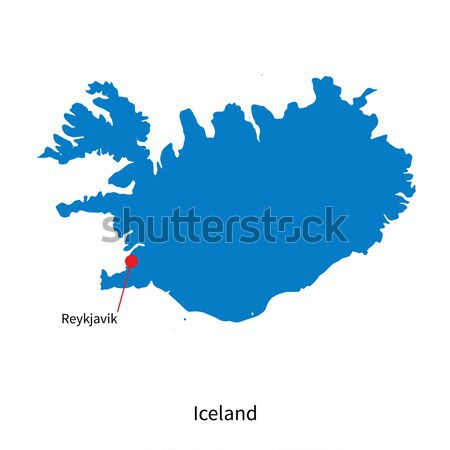Detailed vector map of Iceland and capital city Reykjavik Stock photo © tkacchuk