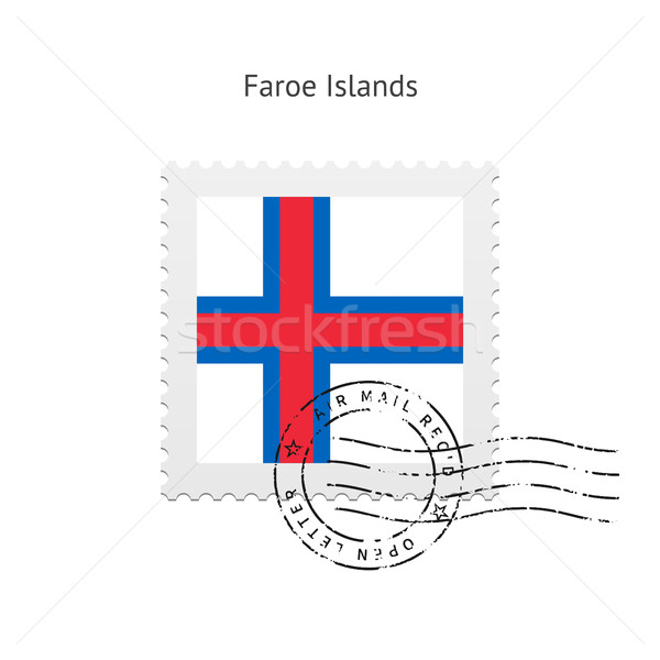 Faroe Islands Flag Postage Stamp. Stock photo © tkacchuk