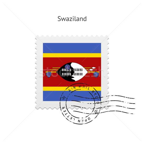 Swaziland Flag Postage Stamp. Stock photo © tkacchuk