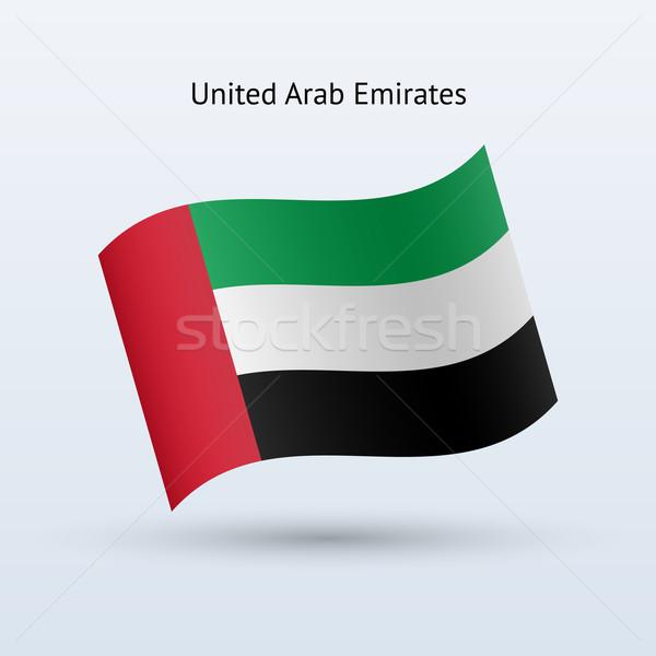Объединенные Арабские Эмираты флаг форме серый знак Сток-фото © tkacchuk