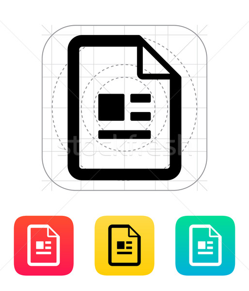 Publication file icon. Stock photo © tkacchuk