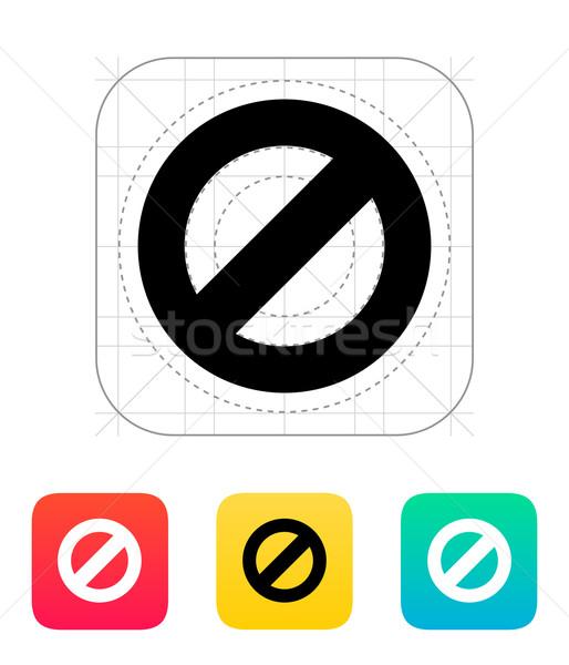 Prohibited icon. Stock photo © tkacchuk