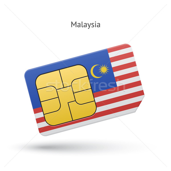 Malaysia cellulare carta bandiera business design Foto d'archivio © tkacchuk