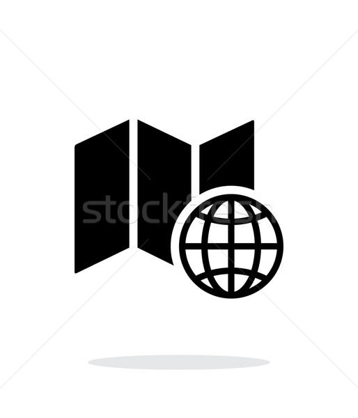 Mundo mapa icono blanco carretera casa Foto stock © tkacchuk