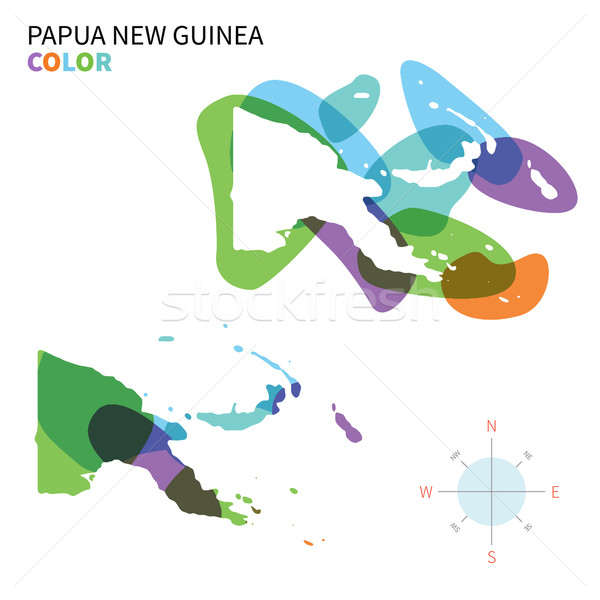Abstrato vetor cor mapa Papua Nova Guiné transparente Foto stock © tkacchuk