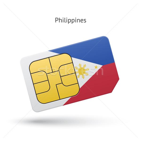 Philippines téléphone portable carte pavillon affaires design Photo stock © tkacchuk