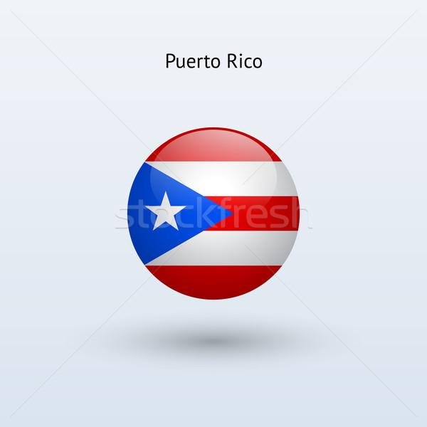 Puerto Rico vlag grijs teken web reizen Stockfoto © tkacchuk