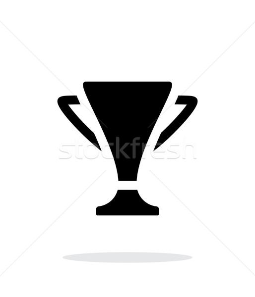 Trofeum proste ikona biały sportu projektu Zdjęcia stock © tkacchuk