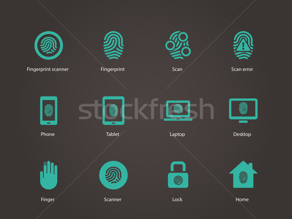 Fingerprint icons. Stock photo © tkacchuk