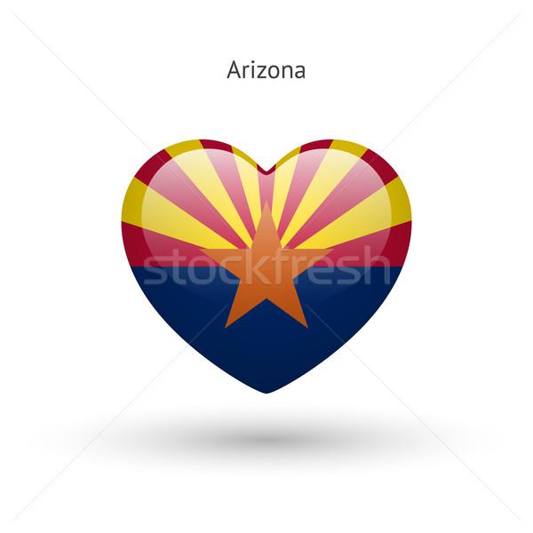 Love Arizona state symbol. Heart flag icon. Stock photo © tkacchuk