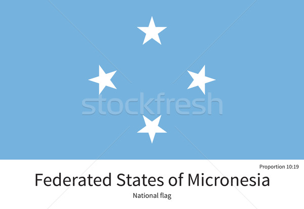 National flag of Micronesia with correct proportions, element, colors Stock photo © tkacchuk