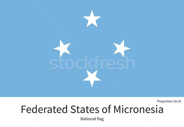 Bandeira Micronésia corrigir elemento cores educação Foto stock © tkacchuk