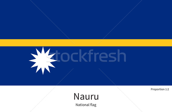 National flag of Nauru with correct proportions, element, colors Stock photo © tkacchuk