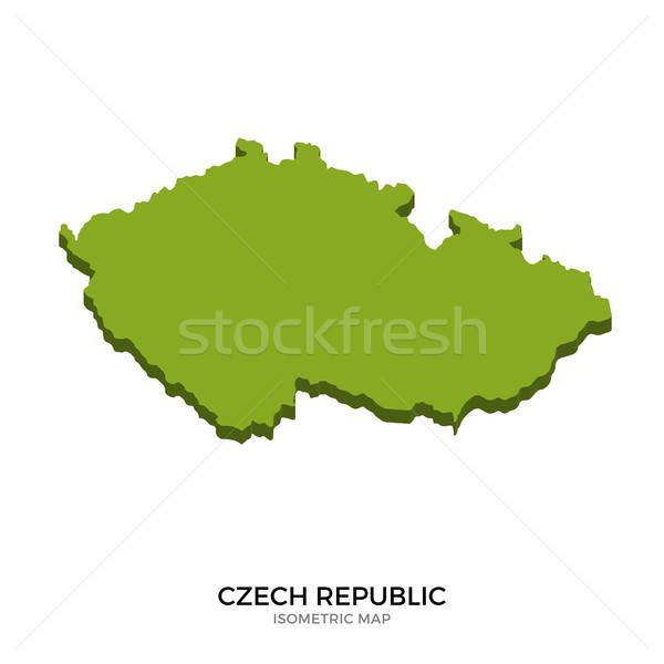 Isometric map of Czech Republic detailed vector illustration Stock photo © tkacchuk