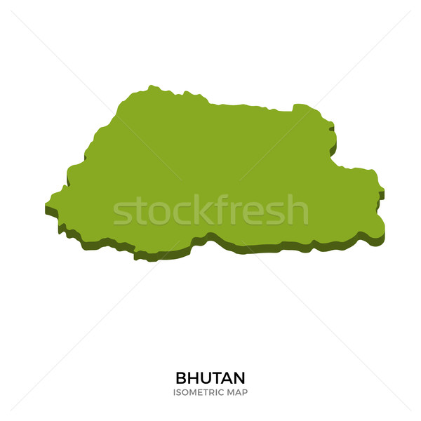 Isometric map of Bhutan detailed vector illustration Stock photo © tkacchuk