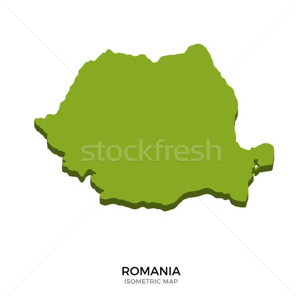 Isometrica mappa Romania dettagliato isolato 3D Foto d'archivio © tkacchuk