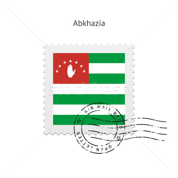 Abkhazia Flag Postage Stamp. Stock photo © tkacchuk