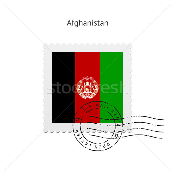 Afghanistan Flag Postage Stamp. Stock photo © tkacchuk