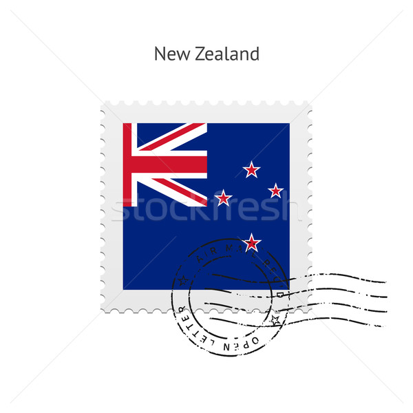 New Zealand Flag Postage Stamp. Stock photo © tkacchuk