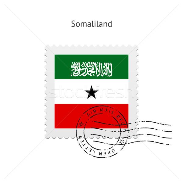 Somaliland Flag Postage Stamp. Stock photo © tkacchuk