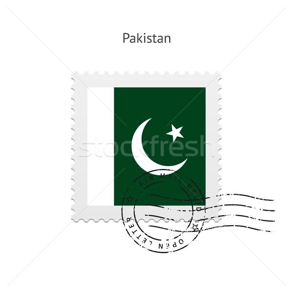 Pakistan bayrak beyaz imzalamak mektup Stok fotoğraf © tkacchuk