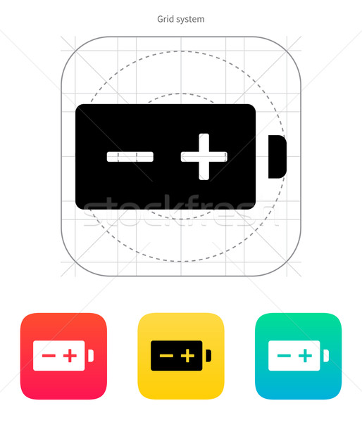 Polarity battery icon. Vector illustration. Stock photo © tkacchuk