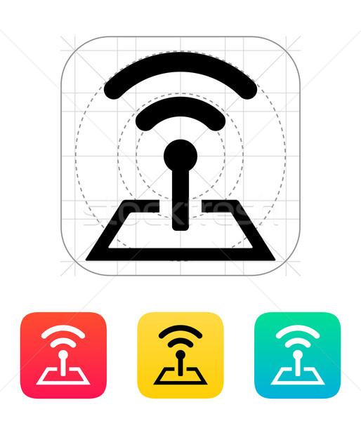Radio torre icona tecnologia senza fili tecnologia telefono Foto d'archivio © tkacchuk