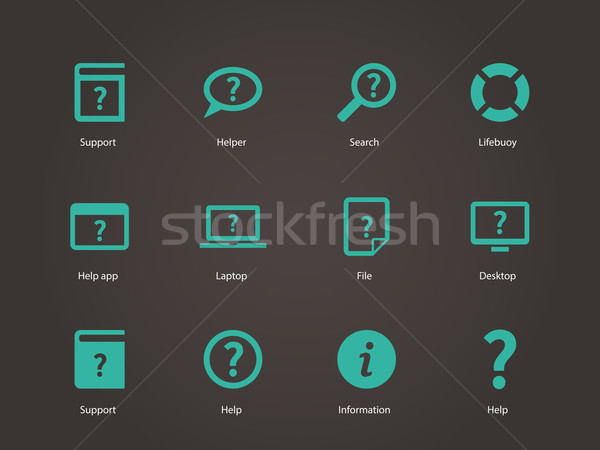 Help and FAQ icons. Stock photo © tkacchuk