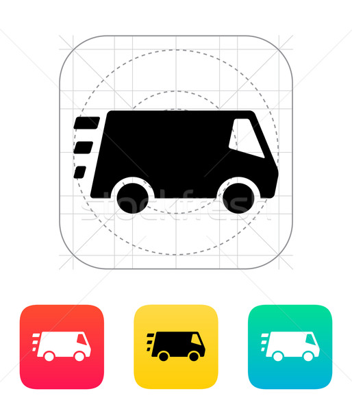 Snel levering minibus icon auto vrachtwagen Stockfoto © tkacchuk