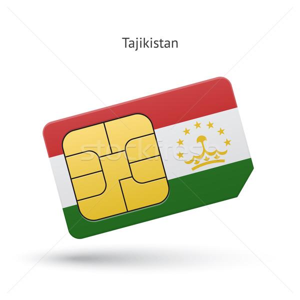 Tajikistan mobile phone sim card with flag. Stock photo © tkacchuk