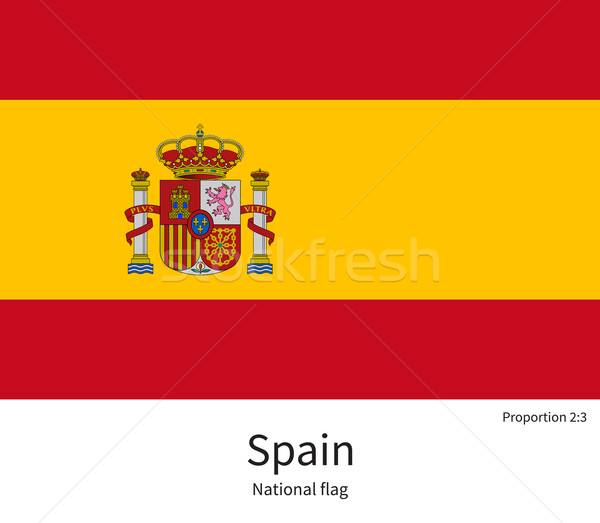 National flag of Spain with correct proportions, element, colors Stock photo © tkacchuk