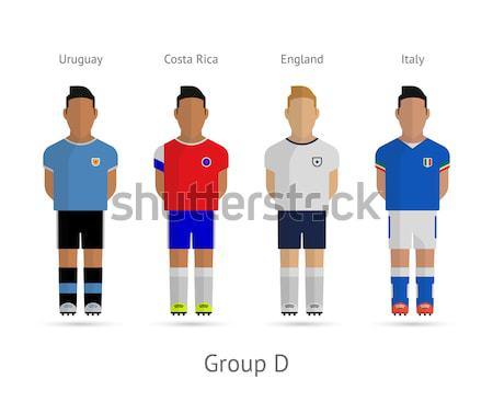 Fútbol jugadores fútbol equipos grupo tejido Foto stock © tkacchuk
