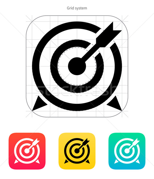 Target with arrow icon. Stock photo © tkacchuk