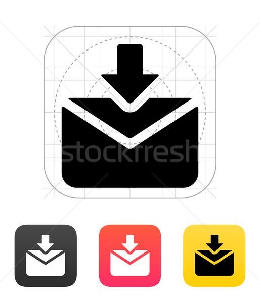 Incoming mails icon. Vector illustration. Stock photo © tkacchuk