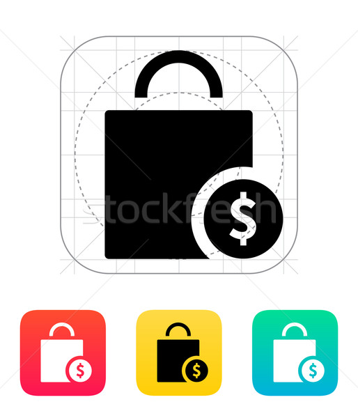 Bag cost icon. Stock photo © tkacchuk