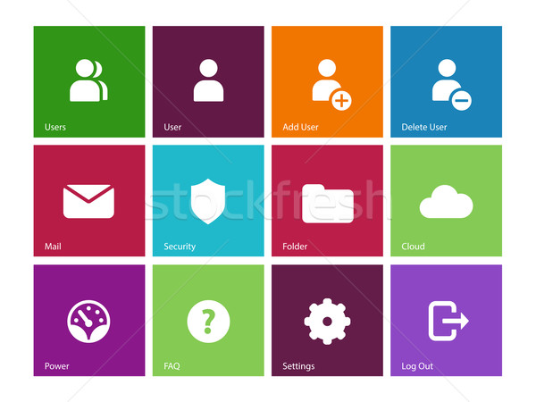User Account icons on color background. Stock photo © tkacchuk