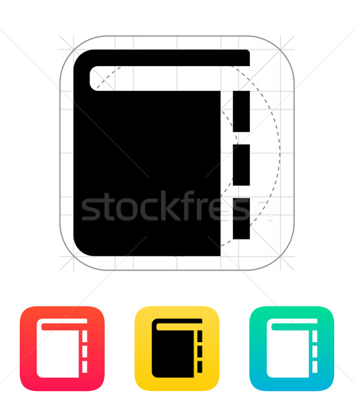 Book with pointers icon. Stock photo © tkacchuk