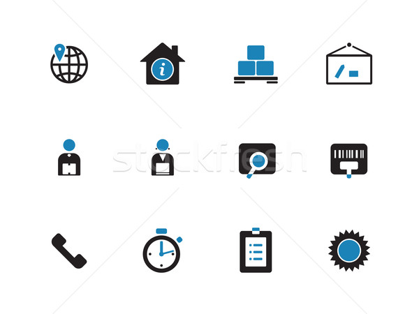 Logistics duotone icons on white background. Stock photo © tkacchuk