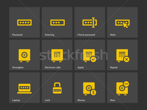 Stock photo: Password icons.